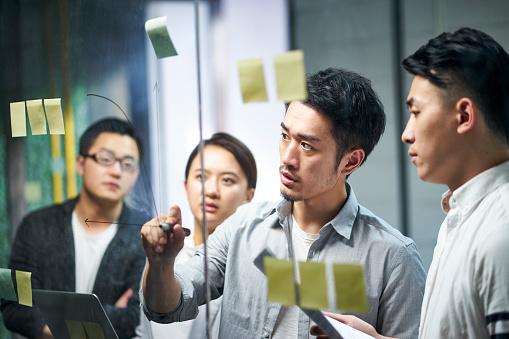 ディスカッションしている写真|KEN'S BUSINESS|ケンズビジネス|職場問題の解決サイト中間管理職・サラリーマン・上司と部下の「悩み」を解決する情報サイト