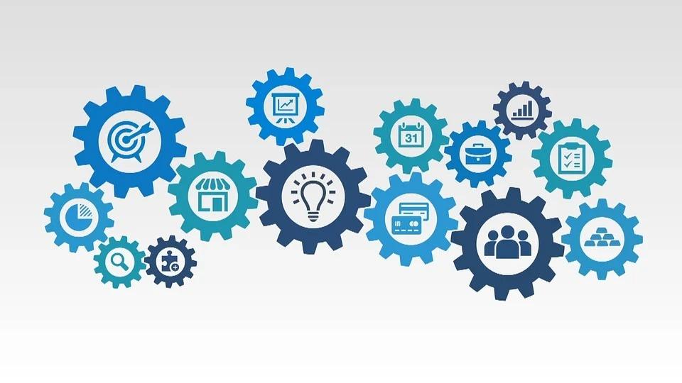 歯車のイラスト|KEN'S BUSINESS|ケンズビジネス|職場問題の解決サイト中間管理職・サラリーマン・上司と部下の「悩み」を解決する情報サイト